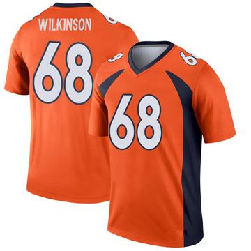 Youth Nike Denver Broncos Elijah Wilkinson Orange Jersey - Legend