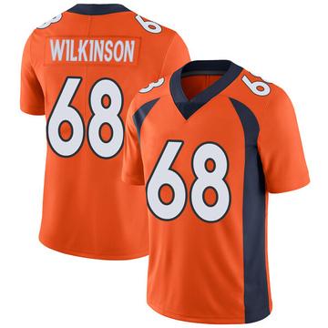 Youth Nike Denver Broncos Elijah Wilkinson Orange Team Color Vapor Untouchable Jersey - Limited