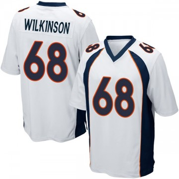 Youth Nike Denver Broncos Elijah Wilkinson White Jersey - Game