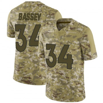 Youth Nike Denver Broncos Essang Bassey Camo 2018 Salute to Service Jersey - Limited