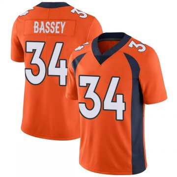 Youth Nike Denver Broncos Essang Bassey Orange 100th Vapor Jersey - Limited
