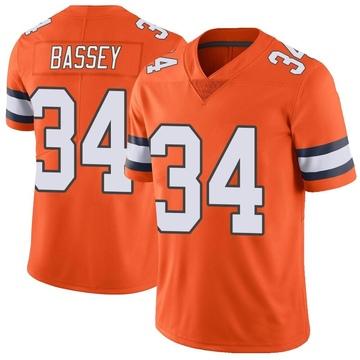 Youth Nike Denver Broncos Essang Bassey Orange Color Rush Vapor Untouchable Jersey - Limited