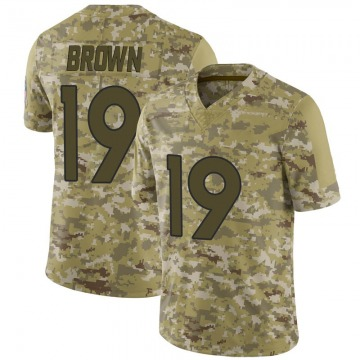 Youth Nike Denver Broncos Fred Brown Brown Camo 2018 Salute to Service Jersey - Limited
