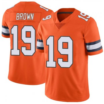 Youth Nike Denver Broncos Fred Brown Orange Color Rush Vapor Untouchable Jersey - Limited