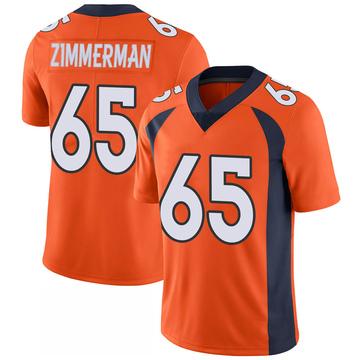 Youth Nike Denver Broncos Gary Zimmerman Orange 100th Vapor Jersey - Limited