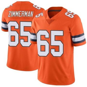 Youth Nike Denver Broncos Gary Zimmerman Orange Color Rush Vapor Untouchable Jersey - Limited
