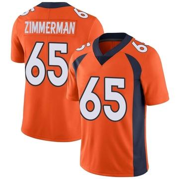 Youth Nike Denver Broncos Gary Zimmerman Orange Team Color Vapor Untouchable Jersey - Limited