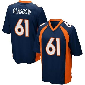 Youth Nike Denver Broncos Graham Glasgow Navy Blue Alternate Jersey - Game