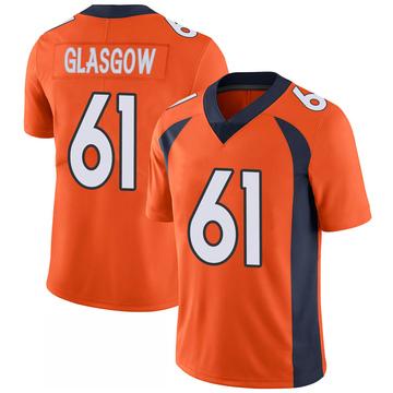 Youth Nike Denver Broncos Graham Glasgow Orange 100th Vapor Jersey - Limited