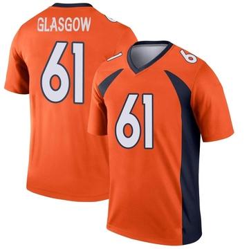 Youth Nike Denver Broncos Graham Glasgow Orange Jersey - Legend