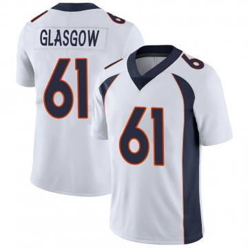 Youth Nike Denver Broncos Graham Glasgow White Vapor Untouchable Jersey - Limited