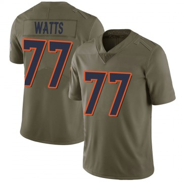 Youth Nike Denver Broncos Hunter Watts Green 2017 Salute to Service Jersey - Limited