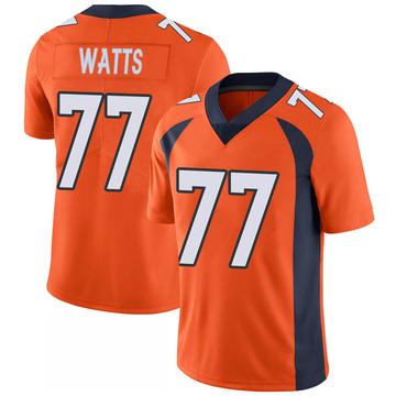Youth Nike Denver Broncos Hunter Watts Orange 100th Vapor Jersey - Limited