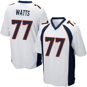 Youth Nike Denver Broncos Hunter Watts White Jersey - Game