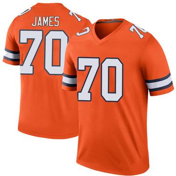 Youth Nike Denver Broncos Ja'Wuan James Orange Color Rush Jersey - Legend