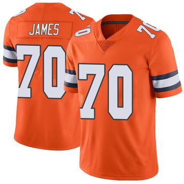 Youth Nike Denver Broncos Ja'Wuan James Orange Color Rush Vapor Untouchable Jersey - Limited