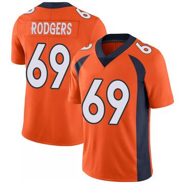 Youth Nike Denver Broncos Jake Rodgers Orange 100th Vapor Jersey - Limited
