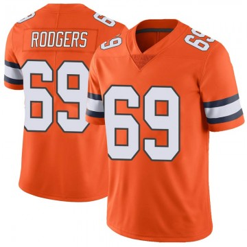 Youth Nike Denver Broncos Jake Rodgers Orange Color Rush Vapor Untouchable Jersey - Limited