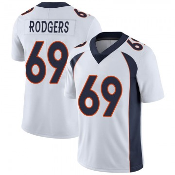Youth Nike Denver Broncos Jake Rodgers White Vapor Untouchable Jersey - Limited