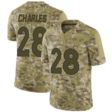 Youth Nike Denver Broncos Jamaal Charles Camo 2018 Salute to Service Jersey - Limited