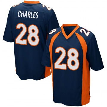 Youth Nike Denver Broncos Jamaal Charles Navy Blue Alternate Jersey - Game