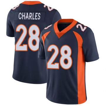 Youth Nike Denver Broncos Jamaal Charles Navy Vapor Untouchable Jersey - Limited