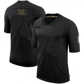 Youth Nike Denver Broncos Jay-Tee Tiuli Black 2020 Salute To Service Jersey - Limited