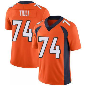 Youth Nike Denver Broncos Jay-Tee Tiuli Orange 100th Vapor Jersey - Limited
