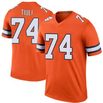 Youth Nike Denver Broncos Jay-Tee Tiuli Orange Color Rush Jersey - Legend