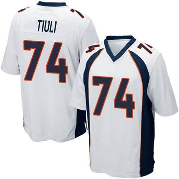 Youth Nike Denver Broncos Jay-Tee Tiuli White Jersey - Game