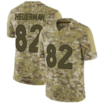 Youth Nike Denver Broncos Jeff Heuerman Camo 2018 Salute to Service Jersey - Limited