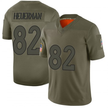 Youth Nike Denver Broncos Jeff Heuerman Camo 2019 Salute to Service Jersey - Limited