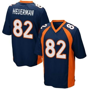 Youth Nike Denver Broncos Jeff Heuerman Navy Blue Alternate Jersey - Game