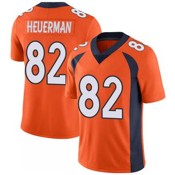 Youth Nike Denver Broncos Jeff Heuerman Orange 100th Vapor Jersey - Limited
