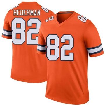 Youth Nike Denver Broncos Jeff Heuerman Orange Color Rush Jersey - Legend