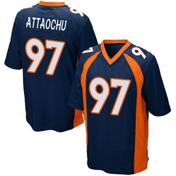 Youth Nike Denver Broncos Jeremiah Attaochu Navy Blue Alternate Jersey - Game