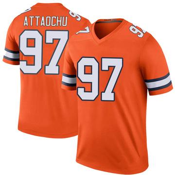 Youth Nike Denver Broncos Jeremiah Attaochu Orange Color Rush Jersey - Legend