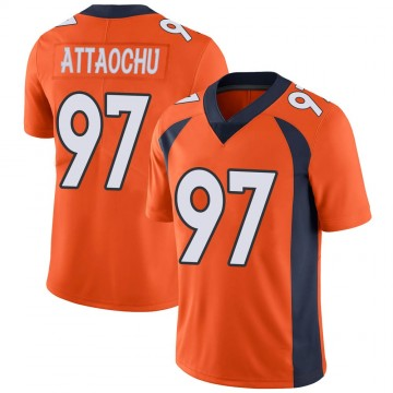 Youth Nike Denver Broncos Jeremiah Attaochu Orange Team Color Vapor Untouchable Jersey - Limited
