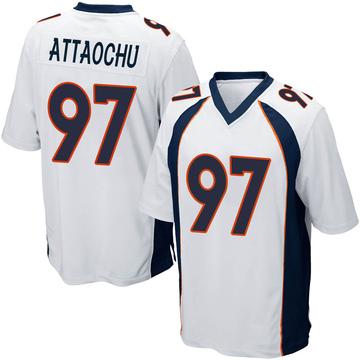 Youth Nike Denver Broncos Jeremiah Attaochu White Jersey - Game