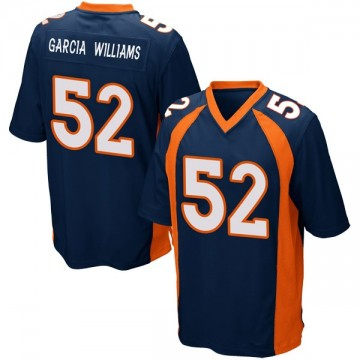 Youth Nike Denver Broncos Jerrol Garcia-Williams Navy Blue Alternate Jersey - Game