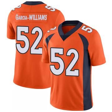 Youth Nike Denver Broncos Jerrol Garcia-Williams Orange 100th Vapor Jersey - Limited
