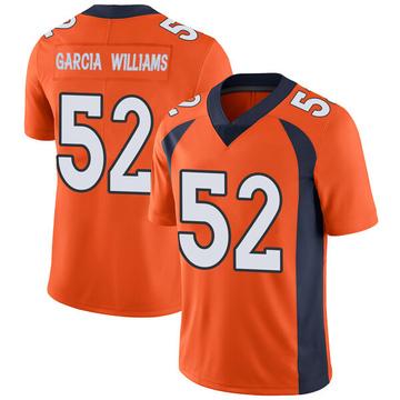 Youth Nike Denver Broncos Jerrol Garcia-Williams Orange Team Color Vapor Untouchable Jersey - Limited