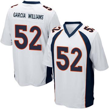 Youth Nike Denver Broncos Jerrol Garcia-Williams White Jersey - Game