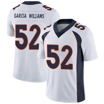 Youth Nike Denver Broncos Jerrol Garcia-Williams White Vapor Untouchable Jersey - Limited