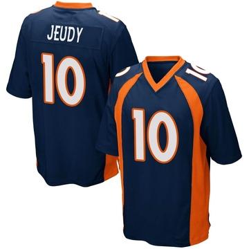 Youth Nike Denver Broncos Jerry Jeudy Navy Blue Alternate Jersey - Game