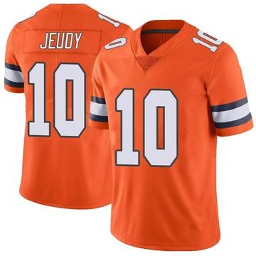 Youth Nike Denver Broncos Jerry Jeudy Orange Color Rush Vapor Untouchable Jersey - Limited