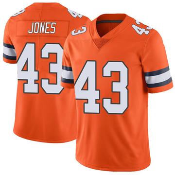 Youth Nike Denver Broncos Joe Jones Orange Color Rush Vapor Untouchable Jersey - Limited