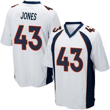 Youth Nike Denver Broncos Joe Jones White Jersey - Game