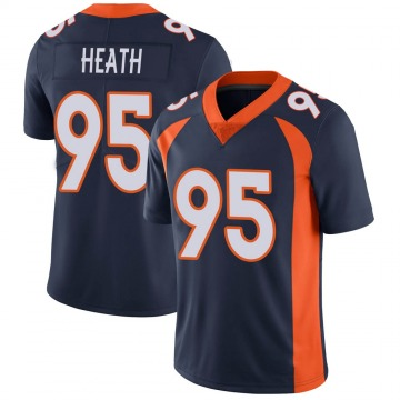 Youth Nike Denver Broncos Joel Heath Navy Vapor Untouchable Jersey - Limited