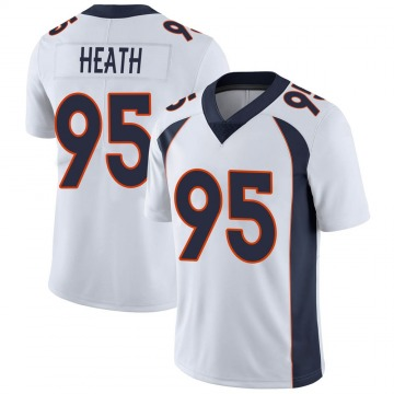 Youth Nike Denver Broncos Joel Heath White Vapor Untouchable Jersey - Limited